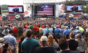 President rallies the troops at BSA Jamboree