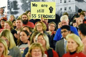 Legislation lambasted by educators at rally
