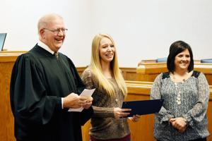 County celebrates first drug court graduate