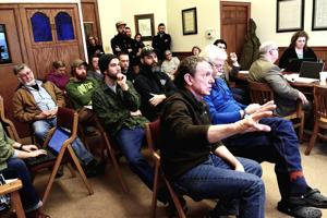Louisos presents trails plan to commission