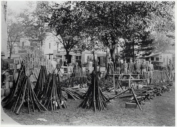 National Guard Troops At The State Capitol Guard Weapons Seized In The  Paint Creek Cabin Creek Mine War Of 1912 13.