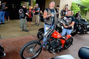 Iron Pigs motorcyclists gather in Fayette