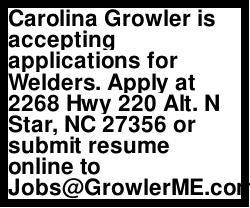 Carolina Growler - Now Hiring