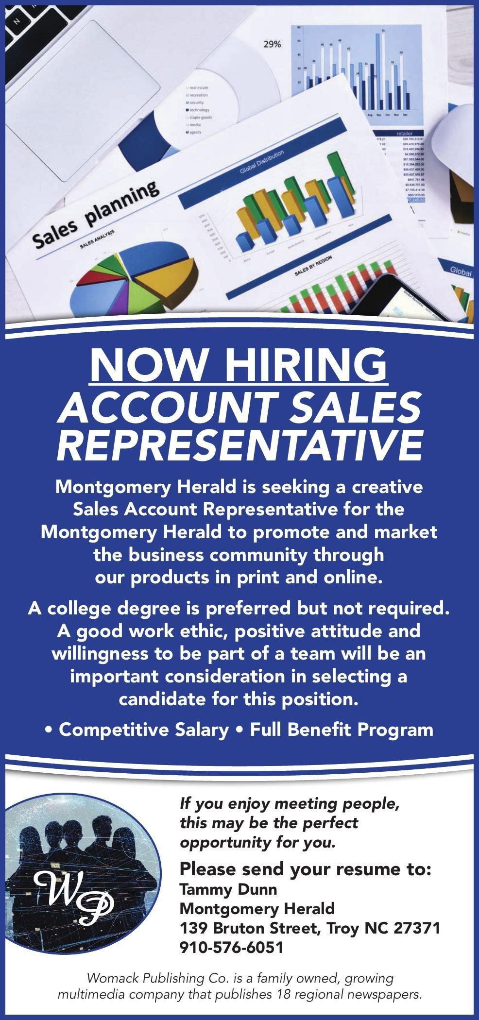 Montgomery Herald is Hiring for Account Sales Representative