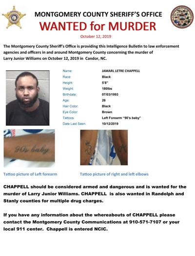 Wanted for murder in Brutonville