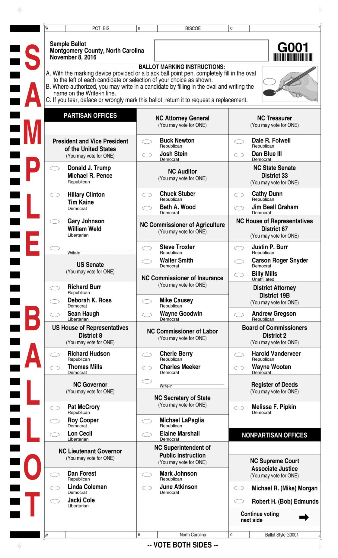 sample ballot for november 8th general election