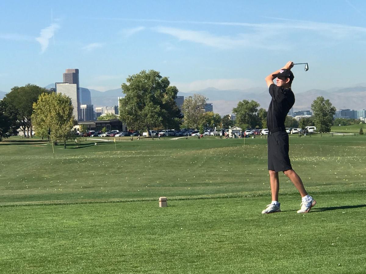MHS boys golf Jake Legg at state tournament 4A 2021