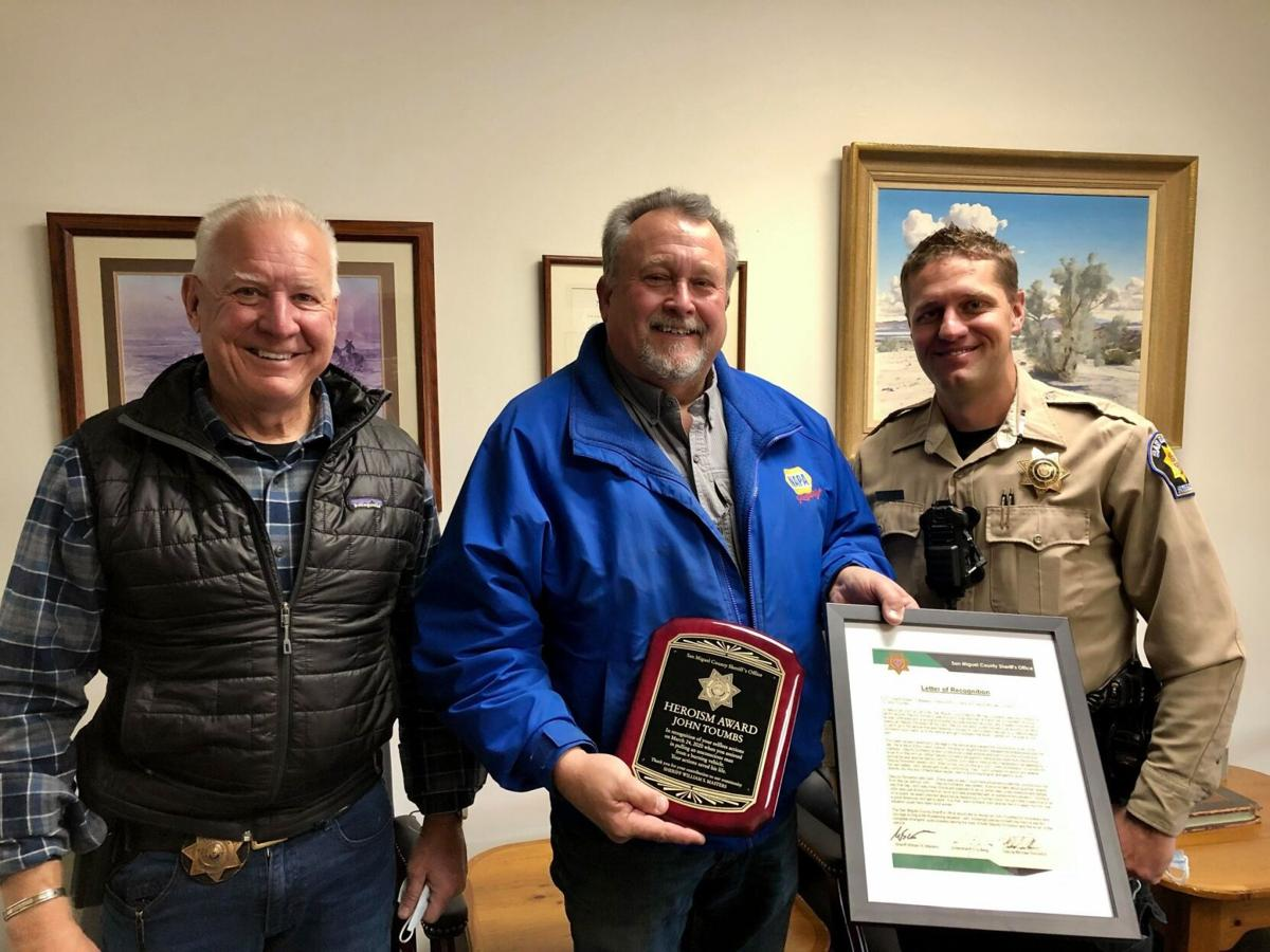 Montrose man honored for saving man from burning truck