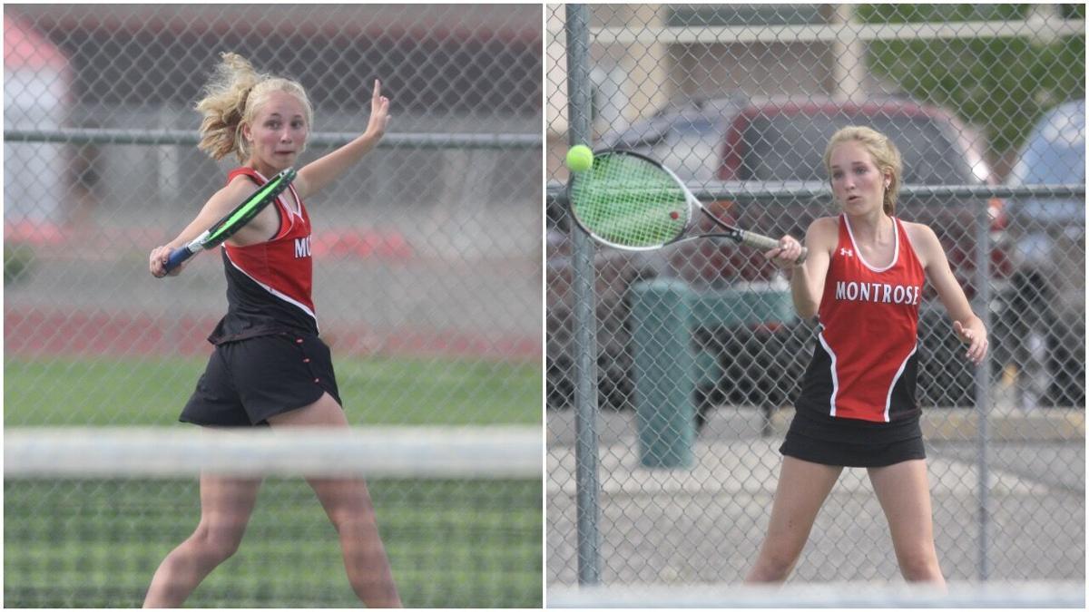 Montrose girls tennis Cora and Andie v Fruita