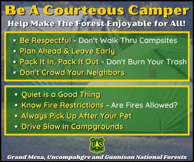 As forest visitation swells, users reminded to tame their campfires, pack out trash