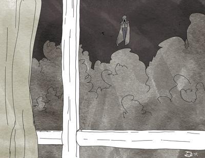 An illustration inspired by 'Brightburn'