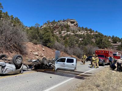 Truck split in half