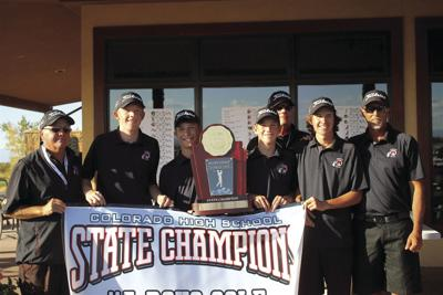 The MHS boys golf team after winning the state tournament