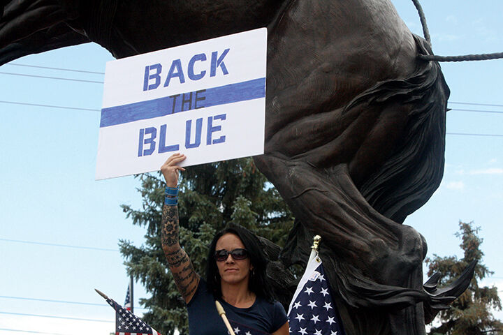 Back the Blue rally at Demoret Park