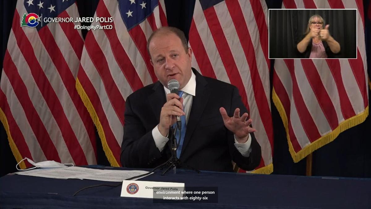 Gov. Jared Polis last call press conference