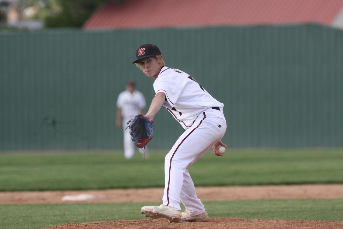 Montrose baseball Parker Davis pitching v Central
