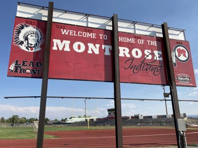 Montrose Indians sign