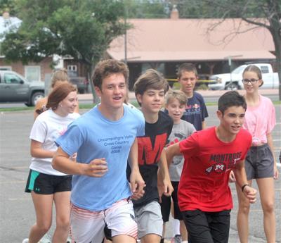 Montrose High School runner Joshua Simpson