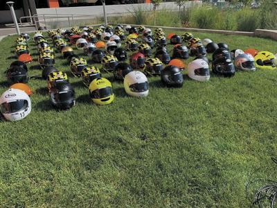 One-hundred and three helmets