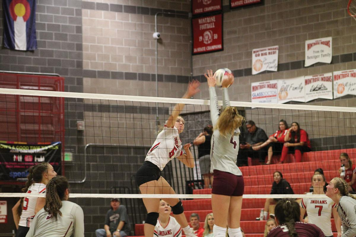 MHS volleyball Taylor Foster v Palisade Aug. 26