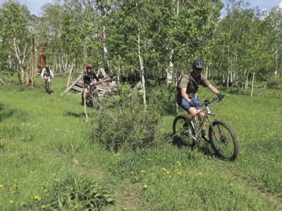 biking hard