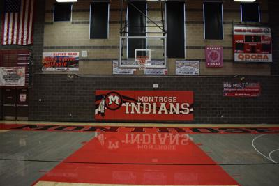 mat in gym with logo