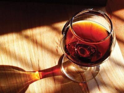 Glass of port wine
