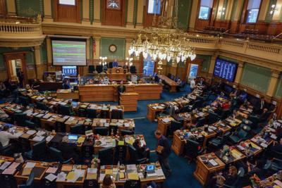 Lawmakers meet in the Colorado House of Representatives