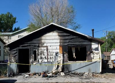 Sunday fire guts apartment