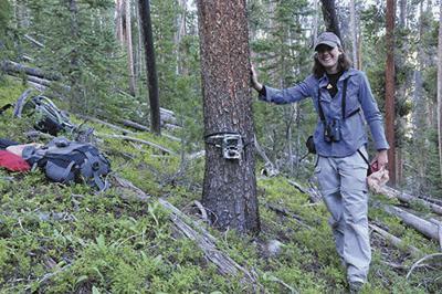 Wildlife technician Kat Bernier