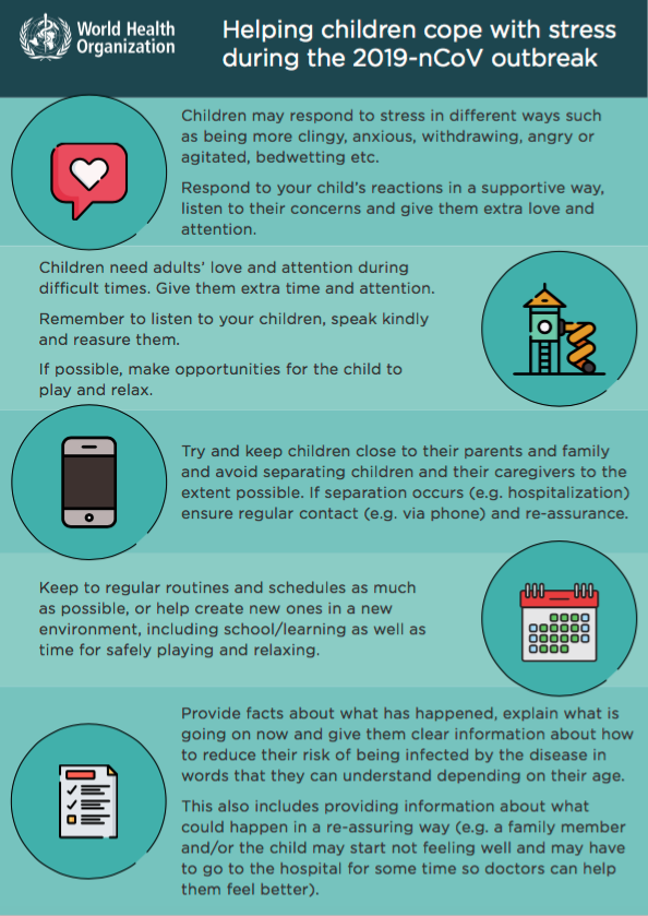 WHO infographic child cope