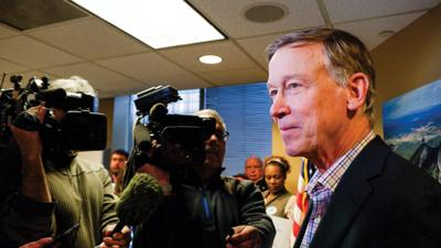 Hickenlooper first telephone town hall