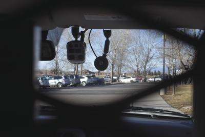 The Arbitrator camera mounted in a Montrose County Sheriff's Office Patrol unit