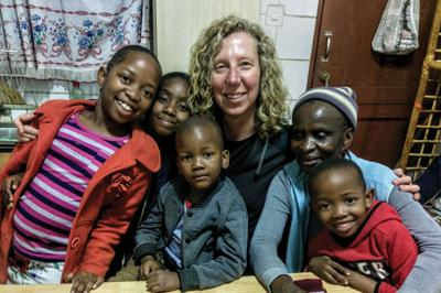 Amy McBride pictured with Lapa la Molepolole