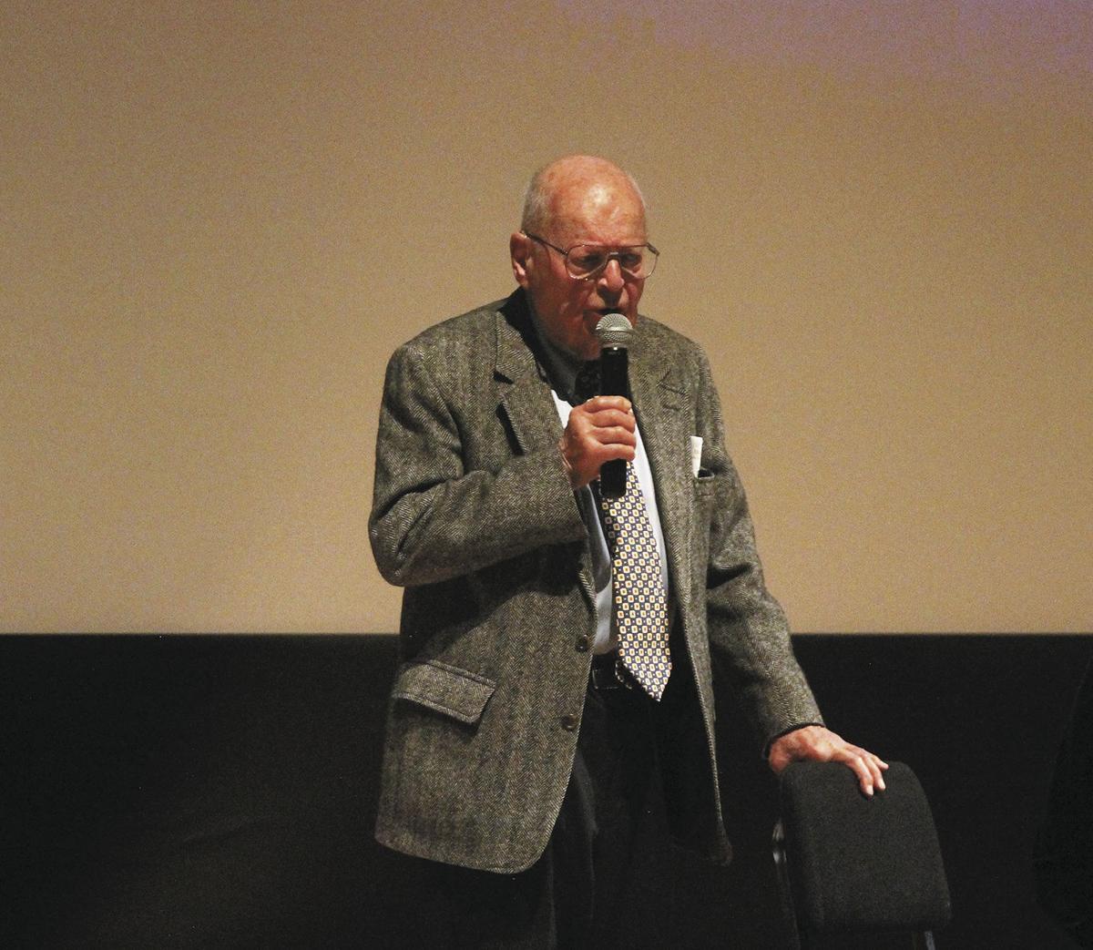 Felix Belmont talks to the Montrose Pavilion