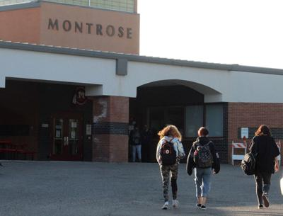 Students arrive at Montrose High School
