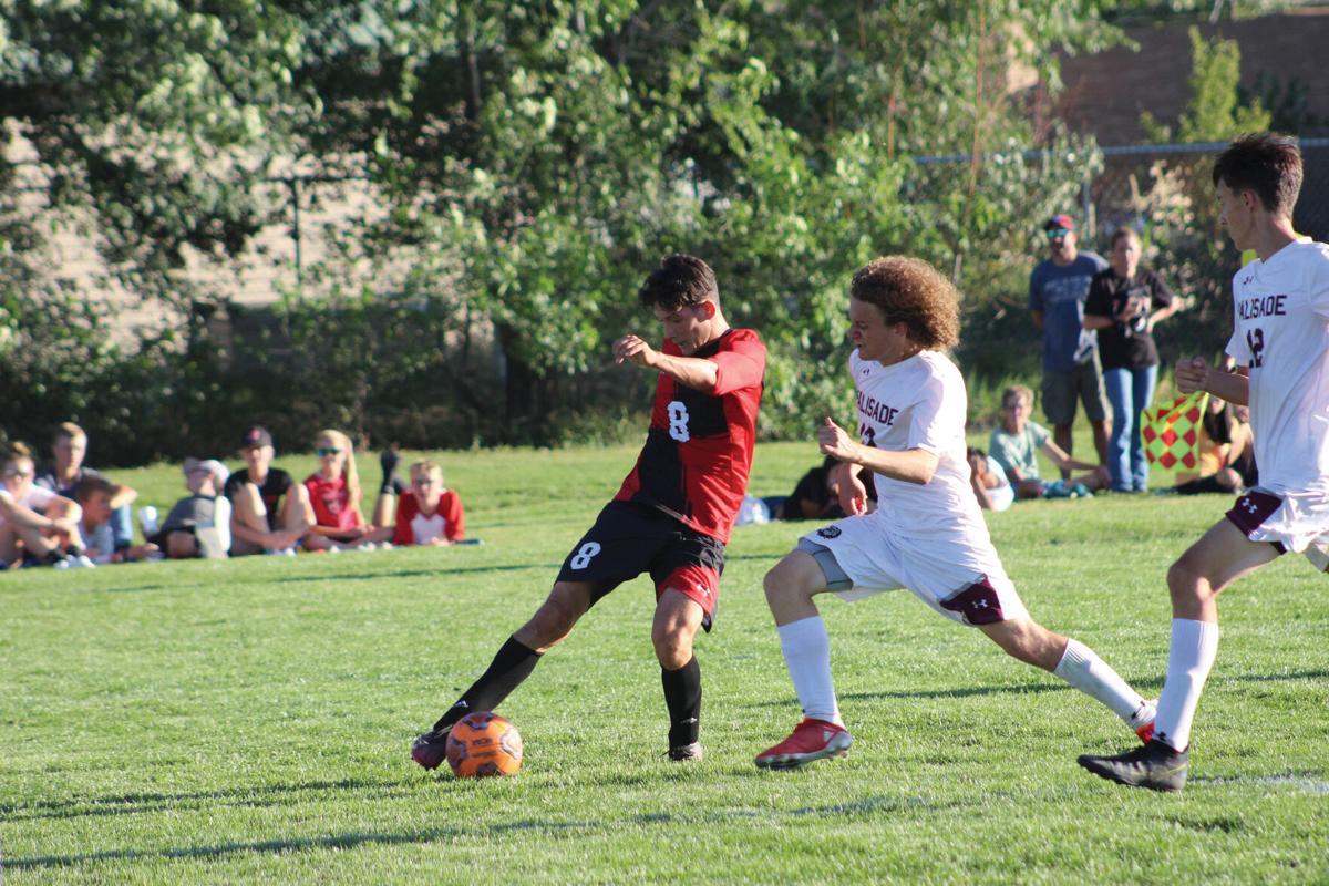 MHS boys soccer Aiden Harrell v Palisade Aug. 27