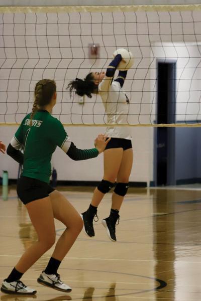 Kiandra Liles OHS volleyball v Plateau Valley