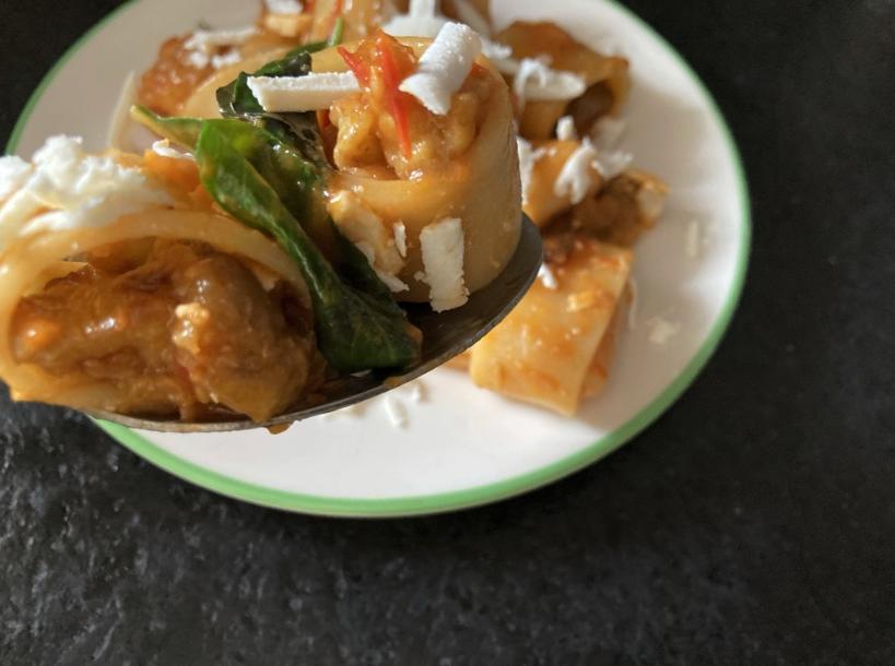 pasta alla norma flash in the pan
