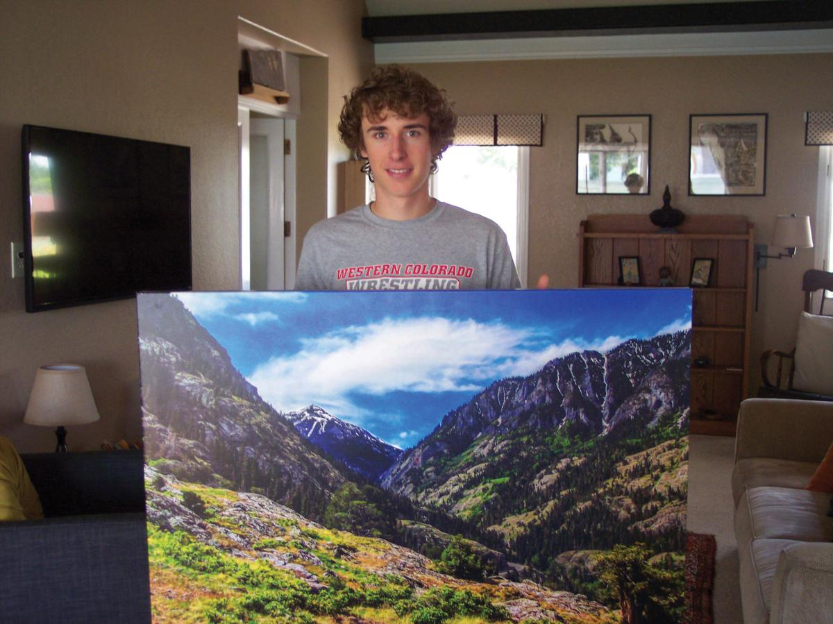 Jake Green with one of his photos