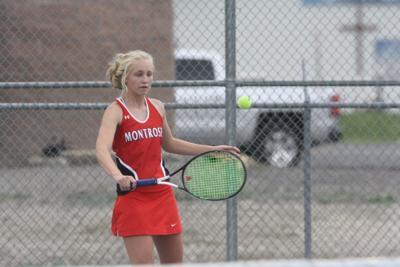Montrose girls tennis Cora Blowers v Durango 3