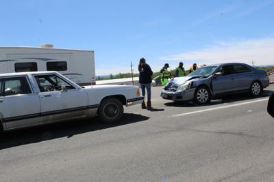 Two vehicle crash near Montrose airport