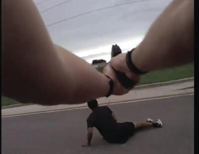 A screenshot of body camera footage