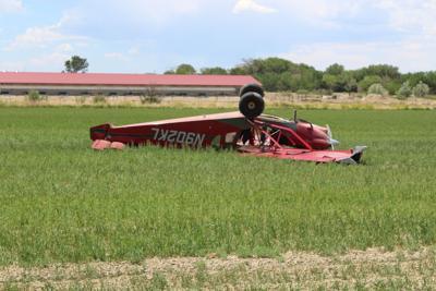Pilot hospitalized after crash landing small plane
