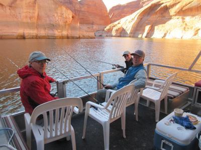 Alan, Bill and Jon fishing for catfish