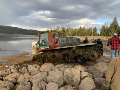 Dive team brings Sno-cat out of lake after 2019 tragedy