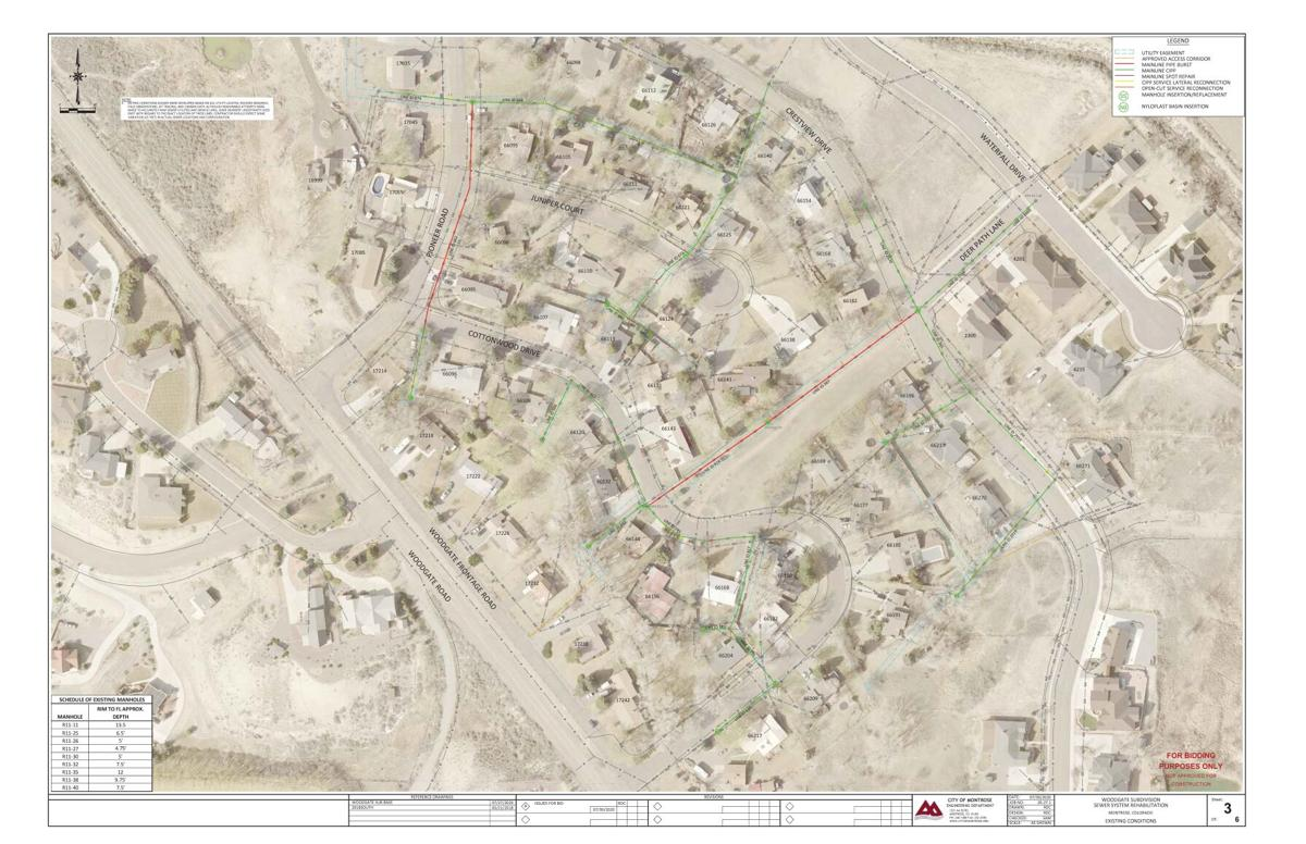 Woodgate sewer project map
