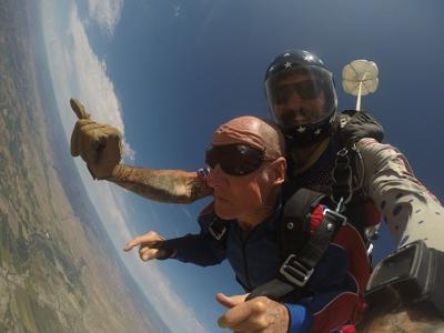 Longtime Montrose resident goes skydiving for the first time at the
