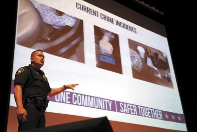 Montrose Police Chief Blaine Hall speaks