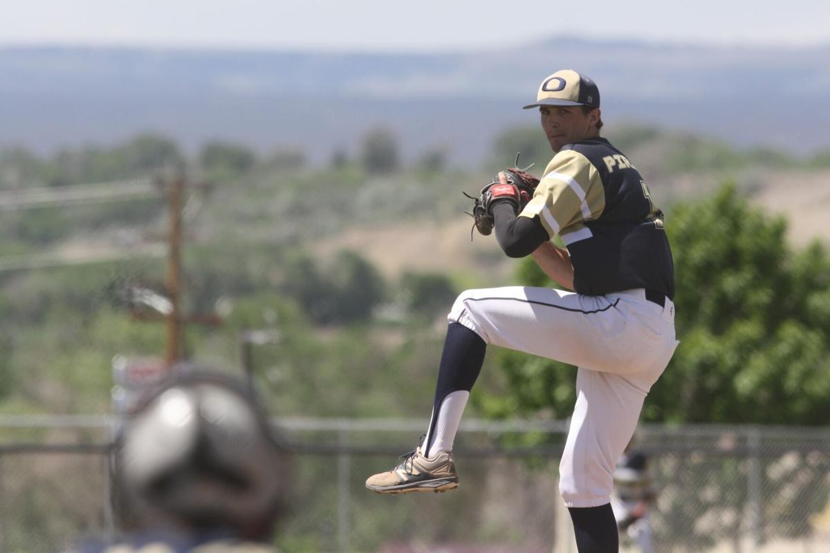 Olathe's Wyatt Mansker baseball v Meeker